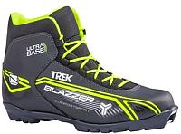 Ботинки для беговых лыж TREK Blazzer 1 N (черный/лайм, р-р 39) -
