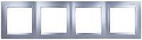 Рамка для выключателя Simon 1500640-033 (алюминий) -