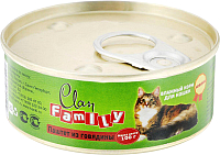 Корм для кошек Clan Family паштет из говядины №20 (100г) -