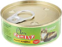 Корм для кошек Clan Family паштет из курицы №22 (100г) -