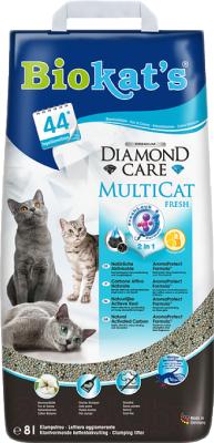 Наполнитель для туалета Biokat's Diamond Care Multicat (8л)