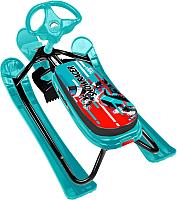 Снегокат детский Ника Тимка Спорт 2. Nika Kids Sportbike / ТС2/SB (черный каркас) -