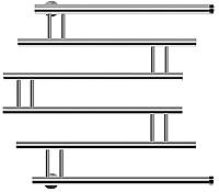 Полотенцесушитель водяной НИКА ПМ-4 60x60 / 590660200 -