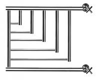 Полотенцесушитель водяной НИКА ПМ-5 50x70 / 720570200 -