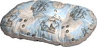 Лежанка для животных Ferplast Relax 45/2 / 82045077 (карта мира на голубом) -