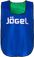 Манишка футбольная Jogel JBIB-2001 (синий/зеленый) -