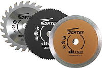 Набор отрезных, пильных дисков Wortex HSS0300K0009A1 -