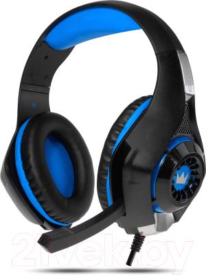 Наушники-гарнитура Crown CMGH-101T (черный/синий)