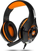 Наушники-гарнитура Crown CMGH-101T (черный/оранжевый) -