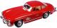 Масштабная модель автомобиля Bburago Мерседес Бенц 300SL / 18-22023 (красный) -