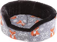 Лежанка для животных Ferplast Dandy Mini / 84895098 (с мехом, лиса) -