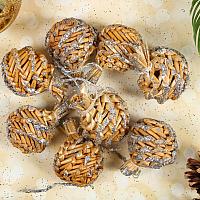 Набор ёлочных игрушек Yiwu Zhousima Craft Шишки / 3567235 (серебряное напыление, 8шт) -