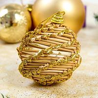 Набор ёлочных игрушек Yiwu Zhousima Craft Шишки / 35067236 (золотое напыление, 8шт) -