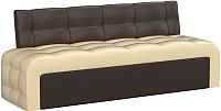 Диван Mebelico Люксор 38 / 58922 (экокожа, бежевый/коричневый) -
