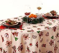 Скатерть Гранд-Стиль Доляна. Рождественские каникулы / 1505582 (110x150) -