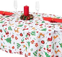 Скатерть Гранд-Стиль Рождественские елочки / 3810794 (110x144) -