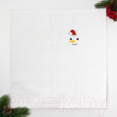 Полотенце Collorista Снеговик / 3469101 (30х30)