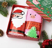 Набор полотенец Collorista С Новым годом с мылом / 3469098 (2шт) -