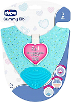 Нагрудник детский Chicco Gummy 2 в 1 с прорезывателем / 340624037 (голубой) -
