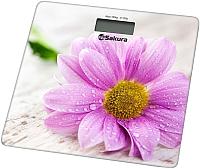 Напольные весы электронные Sakura SA-5072GW (герберы) -