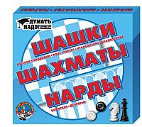 Набор игр Десятое королевство Шашки, шахматы, нарды / 01451 -