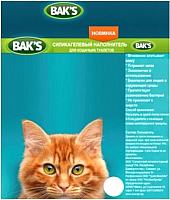 Наполнитель для туалета Bak's Классик силикагелевый (4л) -