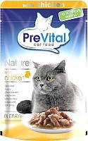 Корм для кошек Prevital Naturel с курицей в соусе (85г) -