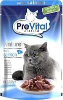 Корм для кошек Prevital Naturel с лососем в соусе (85г) -