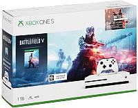 Игровая приставка Microsoft Xbox One S 1 ТБ + Battlefield V 234-00689 -