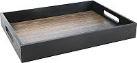 Поднос Grifeldecor Дуб с черными бортами / BZ182-8W180 -