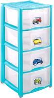 Комод пластиковый Пластишка 431342502 (4 ящика, голубой) -