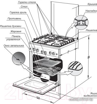 Плита газовая Gefest 5100-02 К (5100-02 0001)