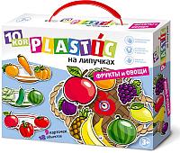 Развивающая игра Десятое королевство Пластик на липучках. Фрукты и овощи / 02865 -