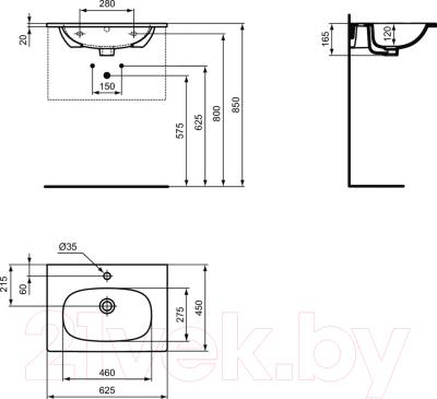 Умывальник Ideal Standard Tesi T351001