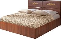 Двуспальная кровать Мебель-Парк Аврора 8 200x160 с подъемным механизмом (темный) -