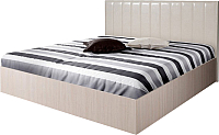 Двуспальная кровать Мебель-Парк Аврора 1 200x180 с подъемным механизмом (светлый) -