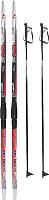 Комплект беговых лыж STC SNS Эльва механика 150/110 (красный) -