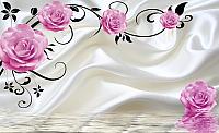 Фотообои листовые Citydecor Цветочный декор 5 3Д (400x254) -