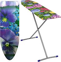 Гладильная доска Ника Лина Эконом / ЭК1 (фиолетовые цветы) -