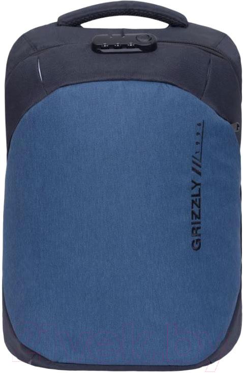 Купить Рюкзак Grizzly, RQ-920-2 (черный/синий), Китай, полиэстер