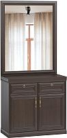 Тумба Woodcraft Гилберт 1167 с зеркалом (венге) -