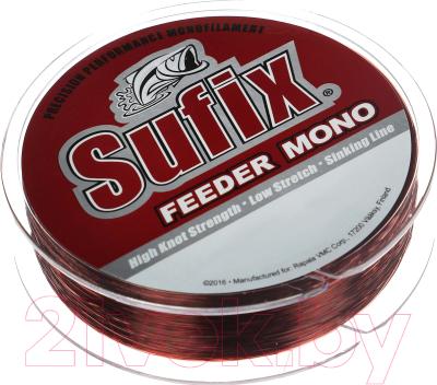 Леска монофильная Sufix Feeder Mono 0.23мм / SFM23BU300 (300м, красный)