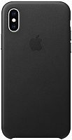Чехол-накладка Apple Leather Case для iPhone XS Black / MRWM2 -