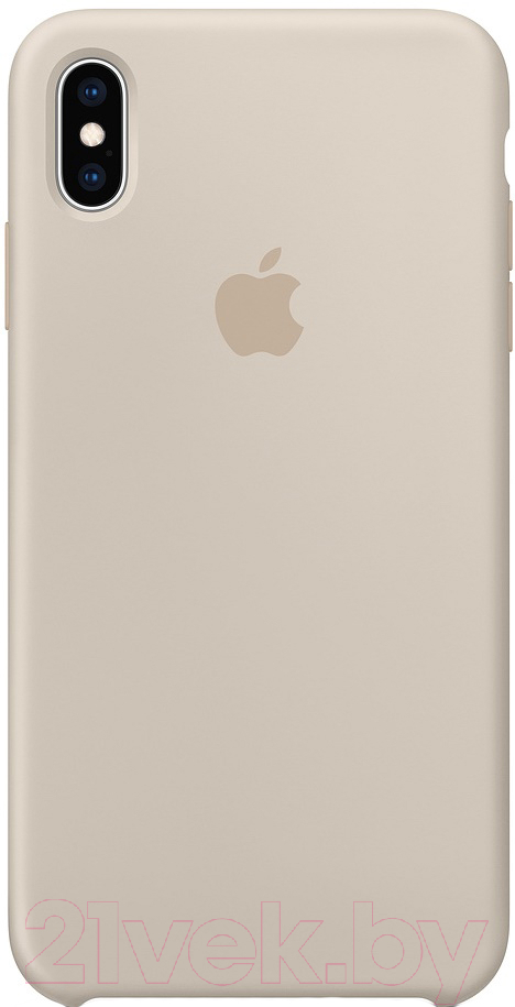 Купить Чехол-накладка Apple, Leather Case для iPhone XS Max Stone / MRWJ2, Китай, натуральная кожа