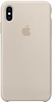 Чехол-накладка Apple Leather Case для iPhone XS Max Stone / MRWJ2 -