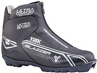 Ботинки для беговых лыж TREK Blazzer Comfort 4 NNN (черный/серый, р-р 45) -
