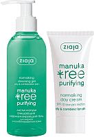 Набор косметики для лица Ziaja Manuka Tree гель для умывания 200мл + дневной крем для лица 50мл -