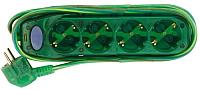Удлинитель Electraline 62329 (3м, прозрачный/зеленый) -