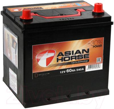 Автомобильный аккумулятор Asian Horse 60 JR (60 А/ч)