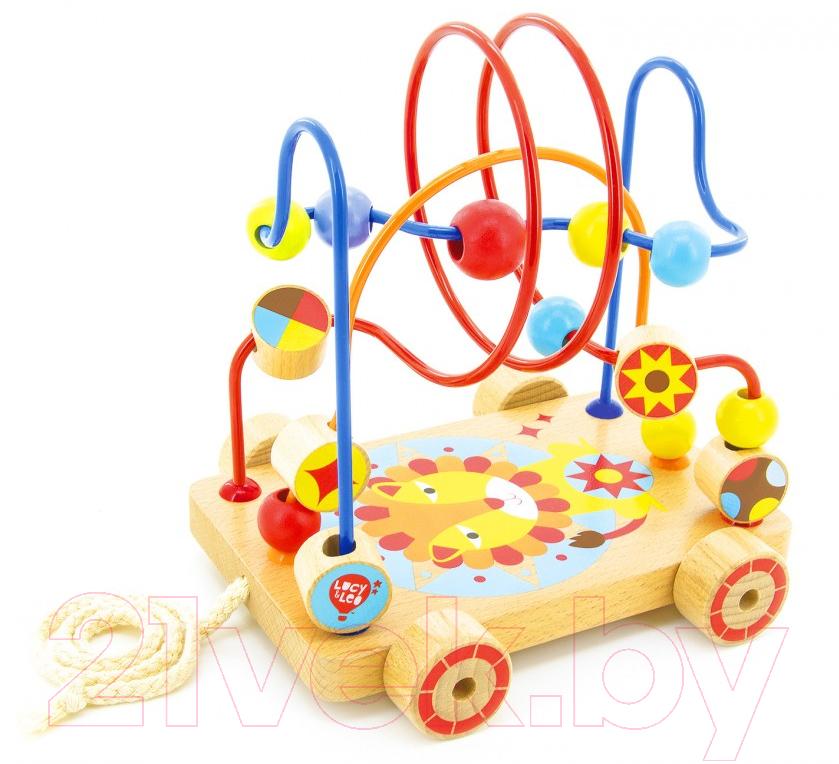 Купить Развивающая игрушка МДИ, Лабиринт-каталка Лев / LL160, Китай, дерево